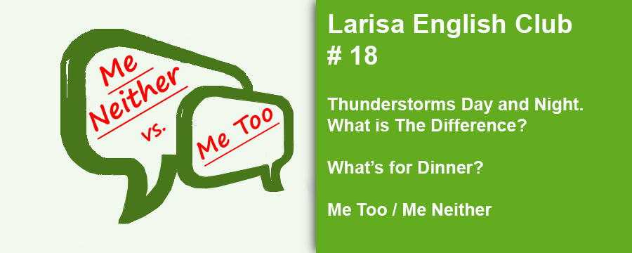 Larisa English Club #18 Me Too Me Neither