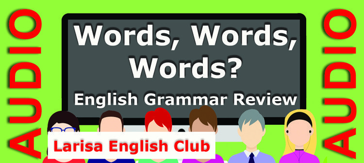 English Grammar Words Words Words