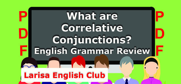 What are Correlative Conjunctions PDF