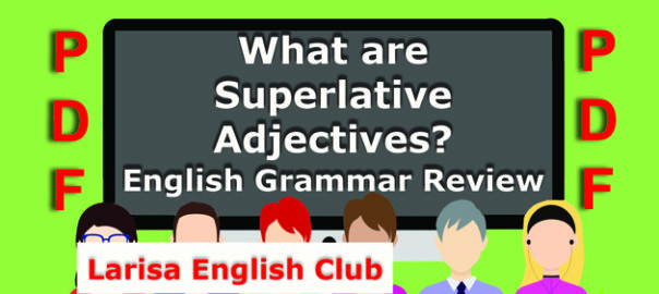 What are Superlative Adjectives PDF