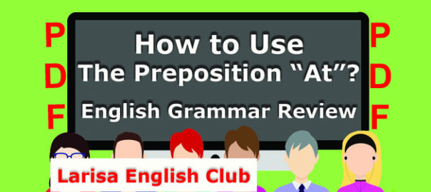 How to Use The Preposition _At PDF