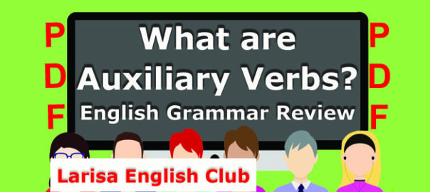 What are Auxiliary Verbs PDF
