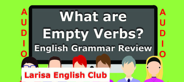 What are Empty Verbs Audio