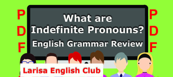What are Indefinite Pronouns PDF