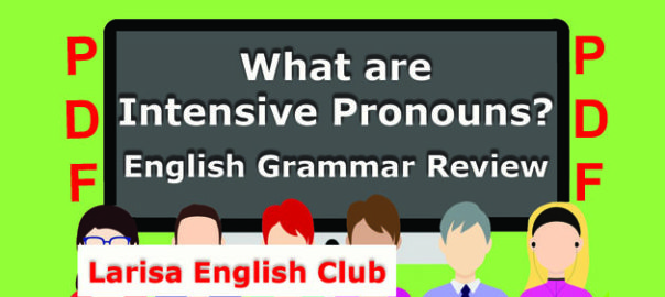 What are Intensive Pronouns PDF