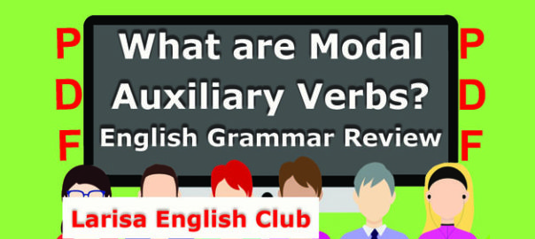 What are Modal Auxiliary Verbs PDF