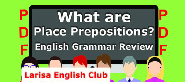 What are Place Prepositions PDF