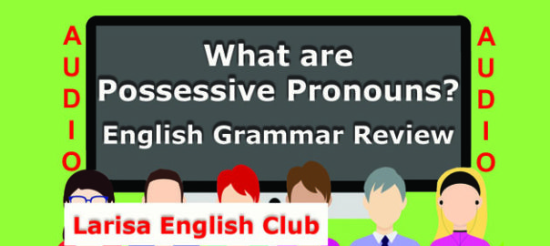 What are Possessive Pronouns Audio