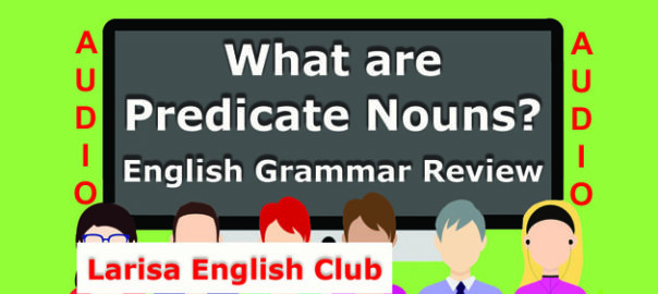 What are Predicate Nouns Audio
