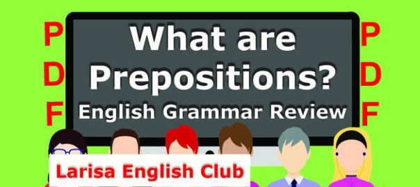 What are Prepositions PDF