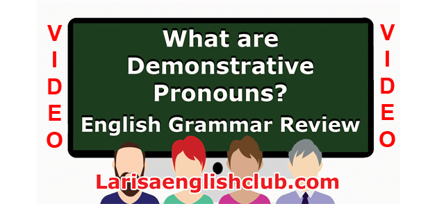 LEC What are Demonstrative Pronouns