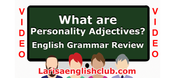 LEC What are Personality Adjectives