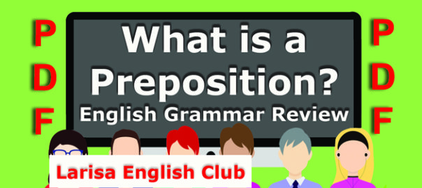 What is a Preposition Grammar Review PDF