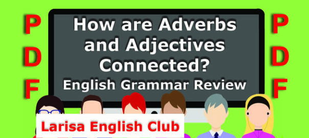 How are Adverbs and Adjectives Connected Audio