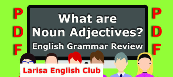 What are Noun Adjectives PDF