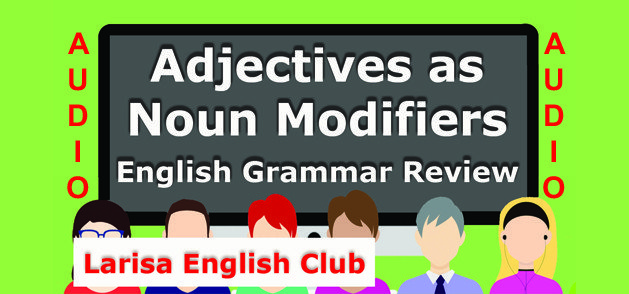 Adjectives as Noun Modifiers Audio_