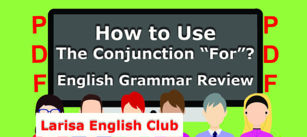 How to Use The Conjunction For PDF