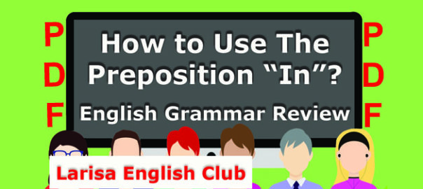 How to Use The Preposition_In PDF