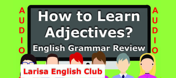 How to learn Adjectives Audio