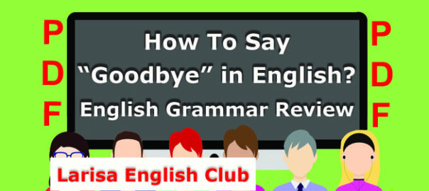 How To Say Goodbye in English PDF