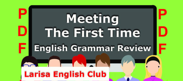 Meeting The First Time PDF