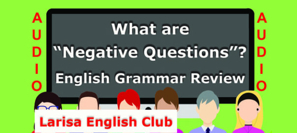 What are Negative Questions Audio