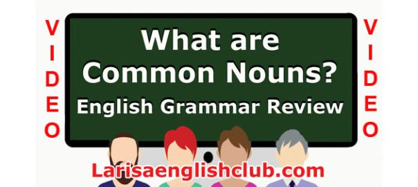 LEC What are Common Nouns Video